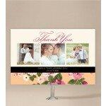 Vintage Stripe Wedding Thank You Card