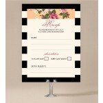 Vintage Stripe Wedding Response Card