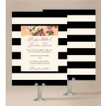 Vintage Stripe Wedding Invitations