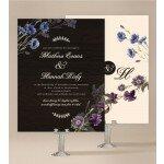 Wood and Flowers Wedding Invitation