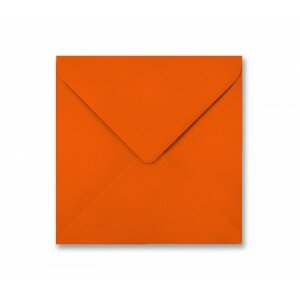 Orange 155mm Square Envelope 100gsm