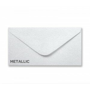 Metallic Snow White DL Envelope