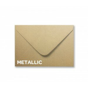 Metallic Soft Gold C6 Envelope